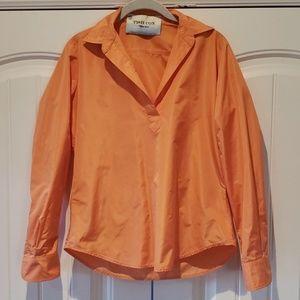 TISH COX Limited Edition Mango Long Sleeve Blouse